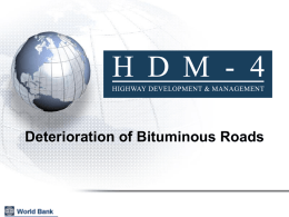 HDM-4 Road Deterioration of Bituminous Pavements