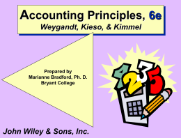 Chapter 4 - Weygandt, Keiso, Kimmel 5th Edition