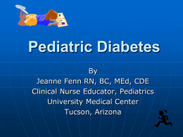 Care of the Child with Type 1 Diabetes