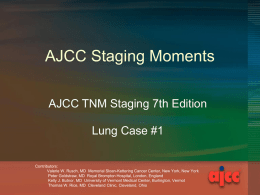 Staging Moments Lung Case 1