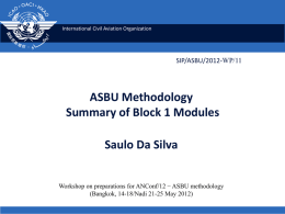 Aviation System Block Upgrades (ASBU) methodology