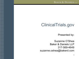 Clinicaltrials.gov Powerpoint Presentation