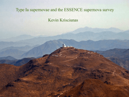 Type Ia supernovae and the ESSENCE supernova survey