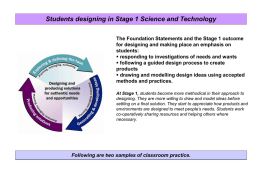 Stage 1 - Curriculum Support