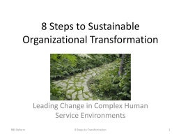 8 Steps to Sustainable Organizational Transformation