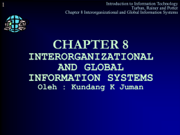 CHAPTER 8 INTERORGANIZATIONAL AND GLOBAL
