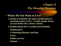 Chapter 8 The Housing Decision - Auburn University, College of