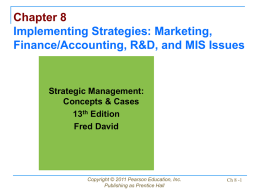 Chapter 8: Implementing Strategies