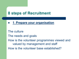 8 steps of Recruitment