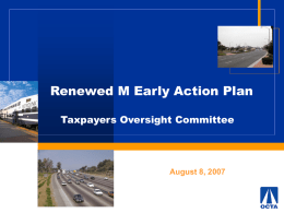 8/27/11: Renewed M Early Action Plan