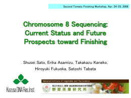 Chromosome 8 update - Sol Genomics Network