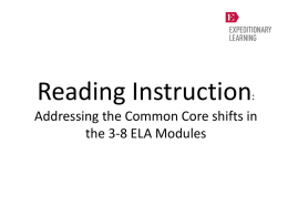 Reading Instruction: The 3