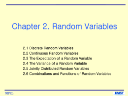 Chapter 2. Random Variables