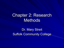 Chapter 2: Research Methods - Suffolk County Community College