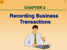Chapter 2: The Accounting Process