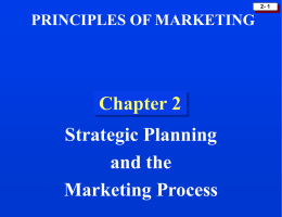 Strategic Planning (Chapter 2)
