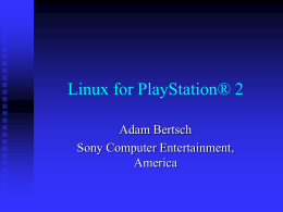 Linux for Playstation® 2