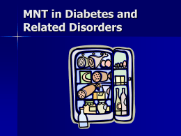 MNT Strategies in Type 2 Diabetes