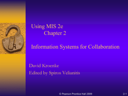 Using Management Information Systems Chapter 2 Information