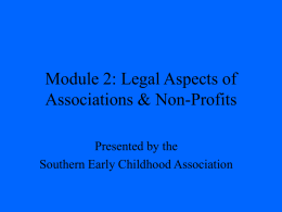 Module 2 - Southern Early Childhood Association
