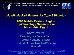 Modifiable Risk Factors for Type 2 Diabetes