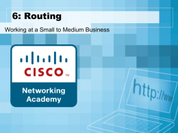6: Routing