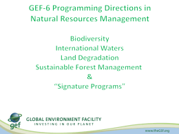 1.d. Focal Areas - NRM GEF 6 Strategyrevisedx