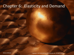 Chapter 6: Elasticity and Demand