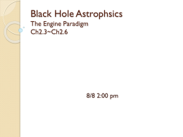 Black Hole Astrophsic The Engine Paradigm Ch2.3~Ch2.6