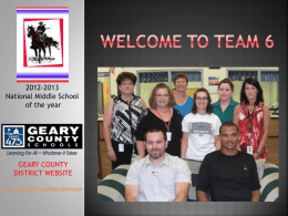 Welcome to Team 6x - Geary County Schools USD 475