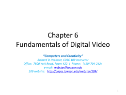 Chapter 6 Fundamentals of Digital Video