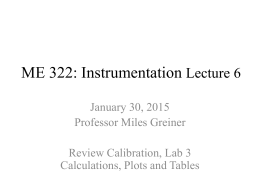 ME 322: Instrumentation Lecture 6