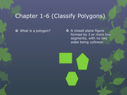 Chapter 1-6 (Classify Polygons)