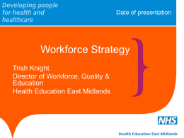 Workforce Planning and Strategy – Trish Knight