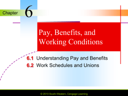 Chapter 6 Pay, Benefits, and Working Conditions