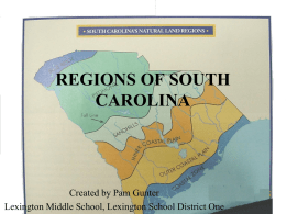 REGIONS OF SOUTH CAROLINA - Lexington School District One