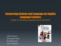 Chapter 6-Connecting Content & Language