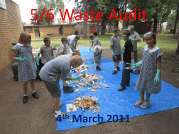 Year 5/6 Waste Audit - Baradine Central School
