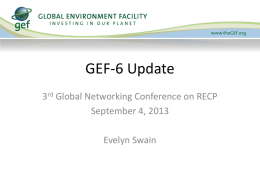 Global Environment Facility - Programme Action 6