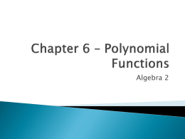 A2 Ch 6 Polynomials Notesx