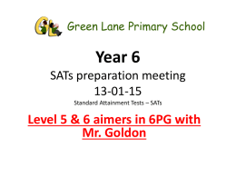 Green Lane Primary Year 6 SATs preparation meeting