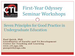 7 Principles for Good Practice in Undergraduate Education