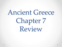 Ancient Greece Chapter 7 Review