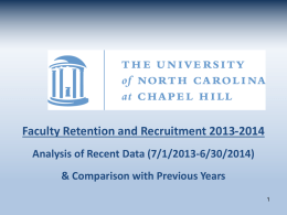 Prof. Strauss`s PowerPoint - UNC Office of Faculty Governance