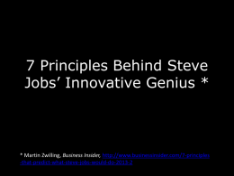 7 Principles Behind Steve Jobs* Innovative Genius