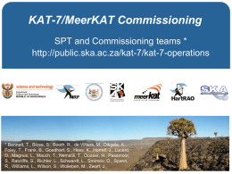 KAT-7 commissioning and MeerKAT science