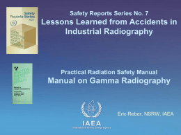 Safety Reports Series No 7 Manual on Gamma Radiography