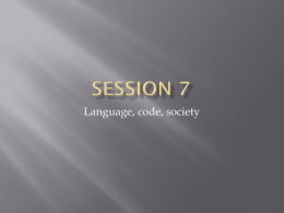 Session 7 - School of English