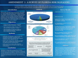 Amendment 7: A Survey Of Florida Risk Managers