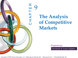 The Analysis of Competitive Markets